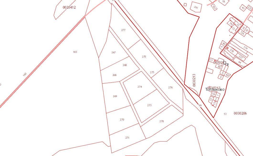 Земляничные луга Кадастровая карта